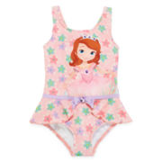 Disney Collection Sofia One-Piece Swimsuit - Girls 2-8