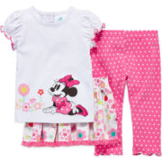 Disney Baby Collection Minnie Mouse 3-pc. Pants Set - Baby Girls newborn-24m