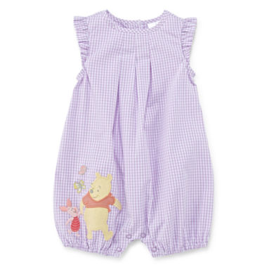 jcpenney.com | Disney Baby Collection Pooh Bear Woven Romper - Baby Girls newborn-24m