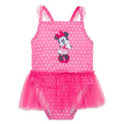 Disney Baby Collection 1-pc. Minnie Swimsuit - Baby Girls newborn-24m