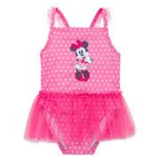 Disney Baby Collection 1-pc. Minnie Swimsuit - Baby Girls newborn-24m