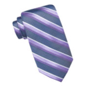 Stafford® Parkside Hampton Striped Tie - Extra Long