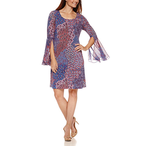 Ronni Nicole Long Sleeve Shift Dress