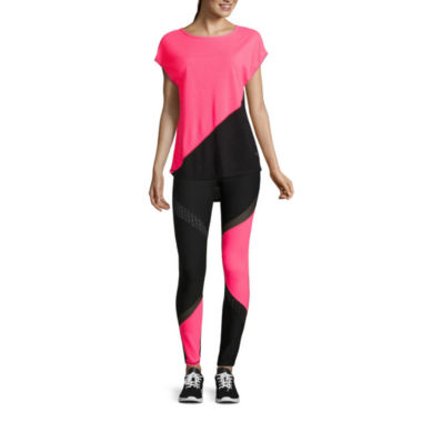 jcpenney.com | Xersion™ Studio Short-Sleeve Colorblock Dolman T-Shirt or Reflective Running Leggings