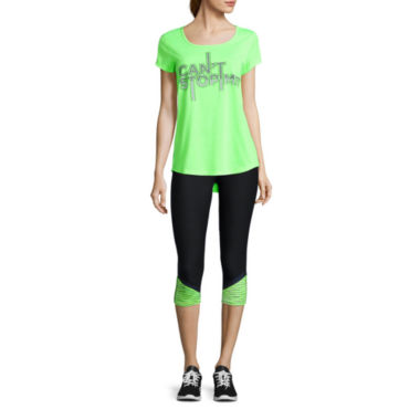 jcpenney.com | Xersion™ Short Sleeve Graphic Tee or  Colorblock Inset Capri Leggings