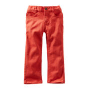 OshKosh B'gosh® Orange Twill Cropped Pants - Girls 2t-4t