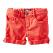 OshKosh B'gosh® Orange Twill Shorts - Girls 2t-4t