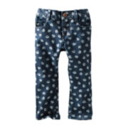 OshKosh B'gosh® Floral-Print Denim Cropped Pants - Girls 5-6x