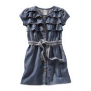 OshKosh B'gosh® Belted Chambray Dress - Girls 5-6x