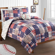 Baseball Home Run Reversible Comforter Set