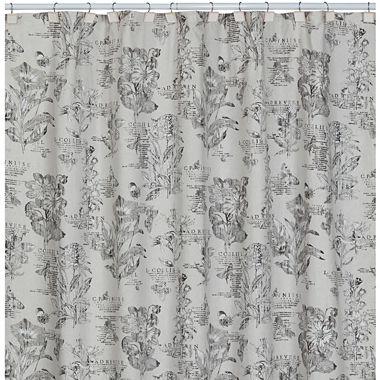 Curtains Ideas botanical shower curtain : Sketchbook Botanical Toile Shower Curtain