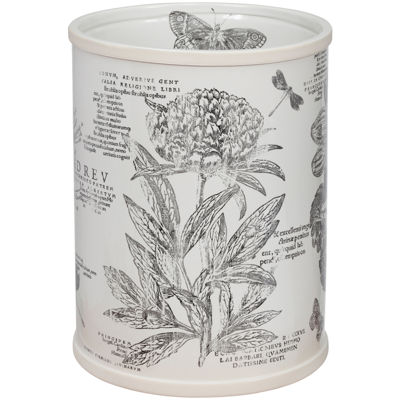 Creative Bath™ Sketchbook Botanical Toile Wastebasket