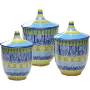 Tapas Set of 3 Canisters
