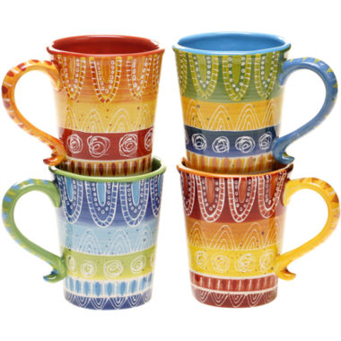 jcpenney.com | Certified International Tapas Set of 4 Mugs