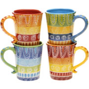 Certified International Tapas Set of 4 Mugs