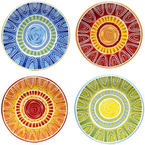 Certified International Tapas Set of 4 Appetizer Plates