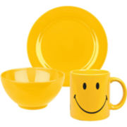 Smiley 3-pc. Dinnerware Set