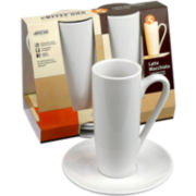 Konitz Coffee Bar 4-pc. Latte Macchiato Cup and Saucer Set