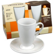 Konitz Coffee Bar  4-pc. Irish Coffee Cup and Saucer Set