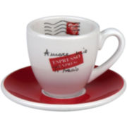 Konitz Coffee Bar Amore Mio 8-pc. Espresso Cup and Saucer Set