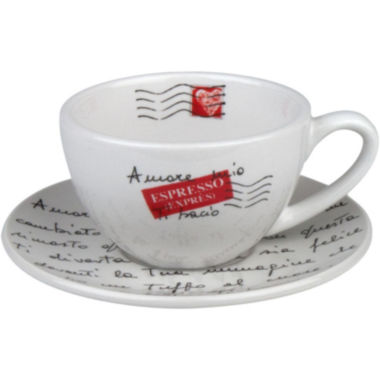 jcpenney.com | Konitz Coffee Bar Amore Mio 8-pc. Cappuccino Cup and Saucer Set