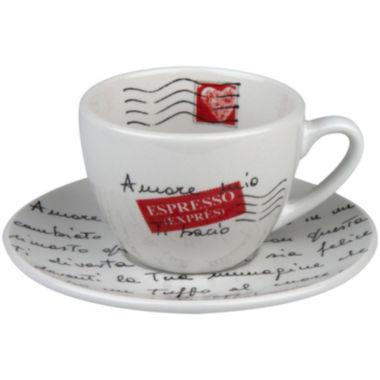 jcpenney.com | Konitz Coffee Bar Amore Mio 8-pc. Coffee Cup and Saucer Set