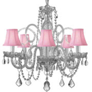 Gallery Murano Venetian-Style 5-Light All-Crystal Chandelier with Shades