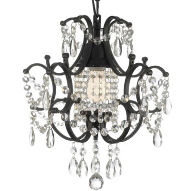 jcpenney.com | Gallery Versailles 1-Light Wrought Iron and Crystal Chandelier