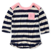 Arizona Striped Top w/ Shoulder Studs - Girls 6-16