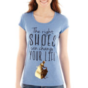 Disney Cap-Sleeve Cinderella Right Shoes Tee