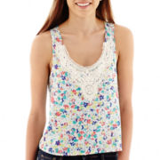 Arizona Crochet-Trim Tank Top