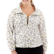 Liz Claiborne® Animal Print Anorak Jacket - Plus