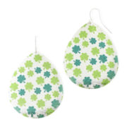 Mixit™ Green Shamrock Teardrop Earrings