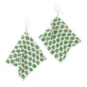 Mixit™ Green Shamrock Mesh Earrings