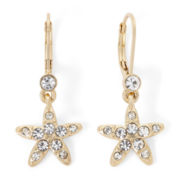 Monet® Gold-Tone Crystal Double Drop Earrings