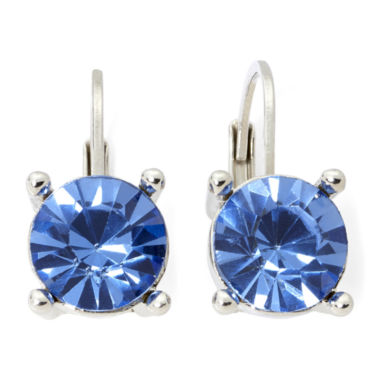 jcpenney.com | Monet® Silver-Tone Blue Stone Small Drop Earrings