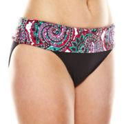 Liz Claiborne® Let's Get Paisley Sash Hipster Swim Bottom