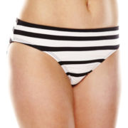 Liz Claiborne® Chelsea Stripe Hipster Swim Bottom