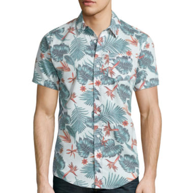 jcpenney.com | DC Shoes® Floral Short-Sleeve Woven Shirt