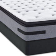 Sealy® Posturepedic Jamarion  Plush Euro Pillow Top Mattress and + Box Spring