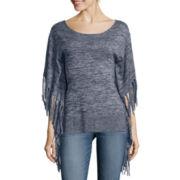 a.n.a®  Fringe Poncho Sweater