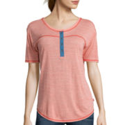 Levi's® Short-Sleeve Space-Dye Henley T-Shirt