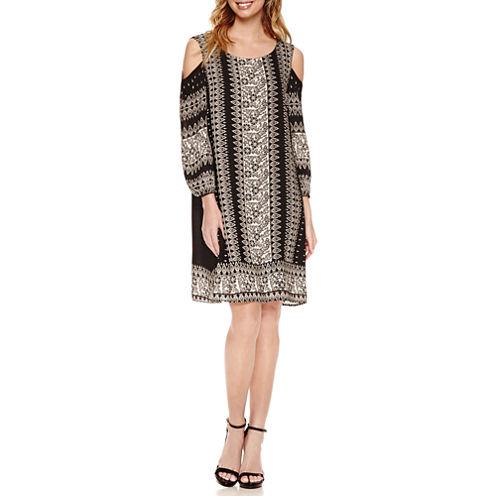 Luxology Cold Shoulder Shift Dress