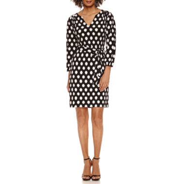 jcpenney.com | Luxology 3/4 Sleeve Shift Dress
