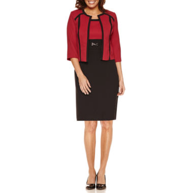 jcpenney.com | Studio 1 3/4 Sleeve Colorblock Jacket Dress-Petites