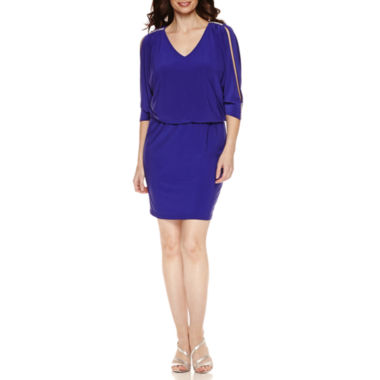 jcpenney.com | Msk 3/4 Sleeve Blouson Dress
