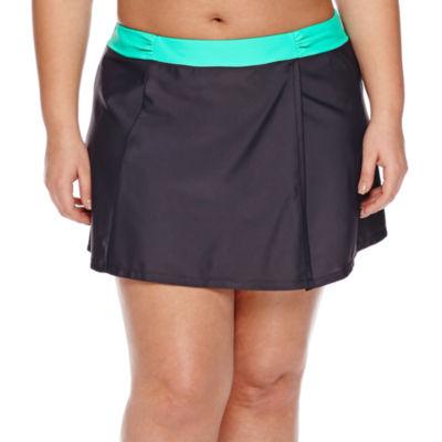Free Country Solid Swim Skirt- Plus