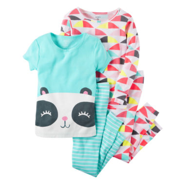 jcpenney.com | Carter'S Girls 4-Pc. Cotton Sleep Geo Print Panda Pant Set-Toddler