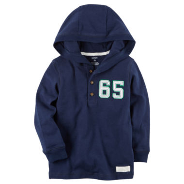 jcpenney.com | Carter'S Boys Navy And Grey Hooded Henley-Baby