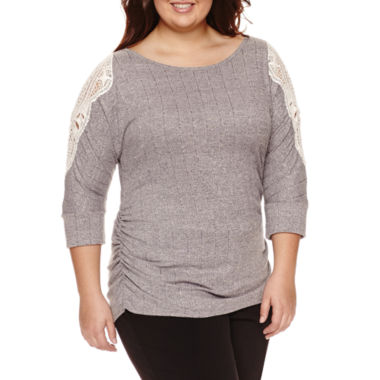 jcpenney.com | By&By 3.4 Sleeve Dolman Top - Juniors